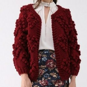 Chicwish Knit your love cardigan. Red. S/M